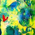 Silk Painting With A Heart  by Alexandra Jordankova