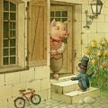 Singing Piglet by Kestutis Kasparavicius