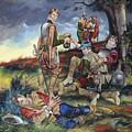 Sir Philip Sidney At The Battle Of Zutphen by Ron Embleton