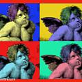 Sisteen Chapel Cherub Angels After Michelangelo After Warhol Robert R Splashy Art Pop Art Prints by Robert R Splashy Art