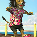 skateboarding Lion by Martin Davey