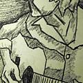 Sketch - Guitar Man by Kamil Swiatek