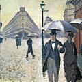 Sketch For Paris A Rainy Day by Gustave Caillebotte