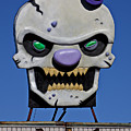 Skull Fun House Sign by Garry Gay