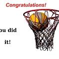 Slam Dunk Congratulations Greeting Card by Yali Shi