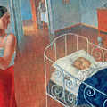 Sleeping Child by Kuzma Sergeevich Petrov Vodkin