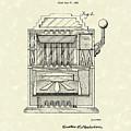 Slot Machine 1932 Patent Art by Prior Art Design