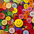 Smiley Face Button by Garry Gay