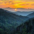 Smoky Mountains Sunset - Great Smoky Mountains Gatlinburg Tn by Dave Allen