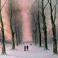 Snow Scene Wanstead Park   by Nils Hans Christiansen
