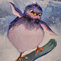 Snowboard Bird by Diane Ursin