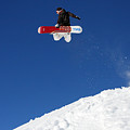 Snowboarder In Serre Chevalier France by Pierre Leclerc Photography