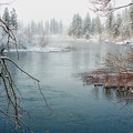 Snowy Day On The River by Beve Brown-Clark Photography