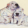 Snuggles  by Pat Saunders-White