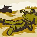 Soldier Aiming Bazooka by Aloysius Patrimonio