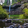 South Silver Falls With Bridge by Darcy Michaelchuk