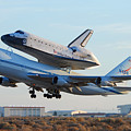 Space Shuttle Atalantis Departs Edwards Afb July 1 2007 by Brian Lockett