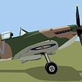 Spitfire Ww2 Fighter by Michael Tompsett