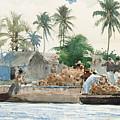 Sponge Fisherman In The Bahama by Winslow Homer