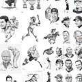 Sports Figures Collage by Murphy Elliott