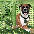 St Patricks Day - My Boxer Is Me Lucky Charm by Renae Laughner
