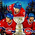 Stanley Cup Win In Sight Playoffs   2010 by Carole Spandau