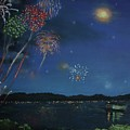 Starry Night At Crooked Creek Marina by Jackie Hill