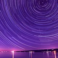 Starry Night Of Cayuga Lake by Paul Ge