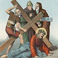 Station Ix Jesus Falls Under The Cross The Third Time by English School