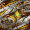 Steampunk - Spiral - Space Time Continuum by Mike Savad