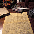 Still Life Of A Copy Of The Declaration by Richard Nowitz