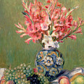 Still Life Of Fruits And Flowers by Pierre Auguste Renoir
