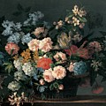 Still Life With Basket Of Flowers by Jean-Baptiste Monnoyer
