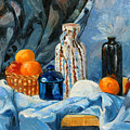 Still Life With Jugs And Oranges by Ethel Vrana