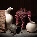 Still Life With Pitcher And Grapes by Tom Mc Nemar
