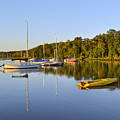 Still Waters On The Potomac River At Belle Haven Marina Virginia by Brendan Reals