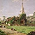 Stoke Poges Church by Jasper Francis Cropsey