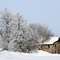 Stone House In Winter by Gary Gunderson