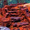 Stone Steps In Autumn by Jeff Kolker