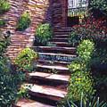 Stone Steps Tuscany by David Lloyd Glover