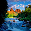 Stormlight On Red Rock Crossing by Kerrick James