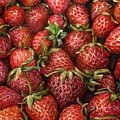 Strawberries -2 Contemporary Oil Painting by Natalja Picugina