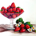 STRAWBERRIES  Print by KARIN KELSHALL- BEST