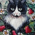 Strawberry Lover Cat by Natalie Holland