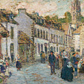 Street In Pont Aven by Childe Hassam