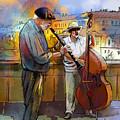 Street Musicians In Prague In The Czech Republic 01 by Miki De Goodaboom