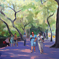Strolling In Central Park by Merle Keller