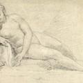 Study Of A Female Nude  by William Hogarth