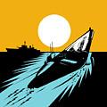 Submarine Boat Retro by Aloysius Patrimonio