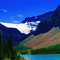 Summer Glacier Over Mountain Lake by Greg Hammond